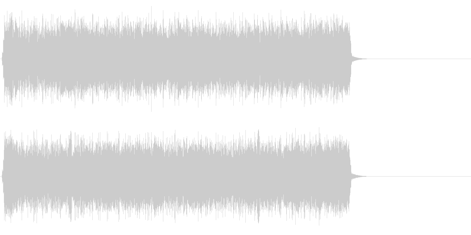 疾走感のあるハードロック(サビ)の未再生の波形