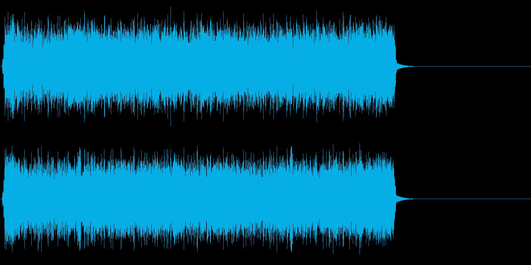 疾走感のあるハードロック(サビ)の再生済みの波形