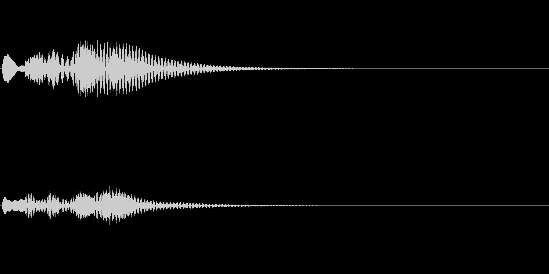 アプリやゲーム、マリンバ、起動音、下降2の未再生の波形