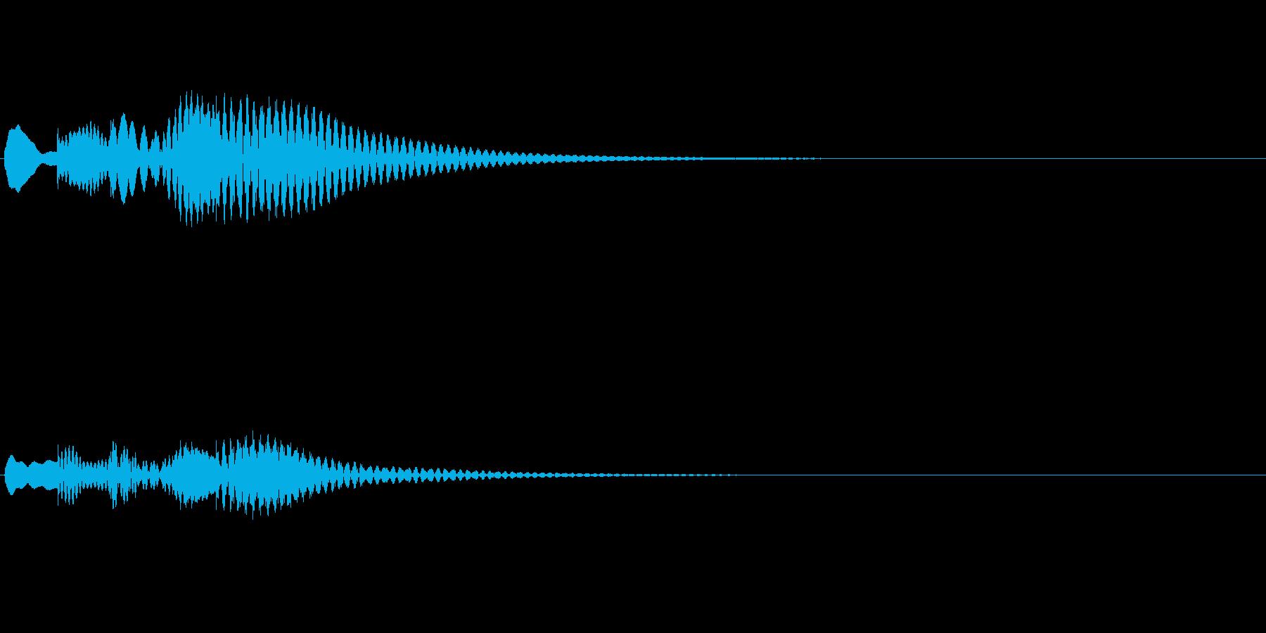 アプリやゲーム、マリンバ、起動音、下降2の再生済みの波形
