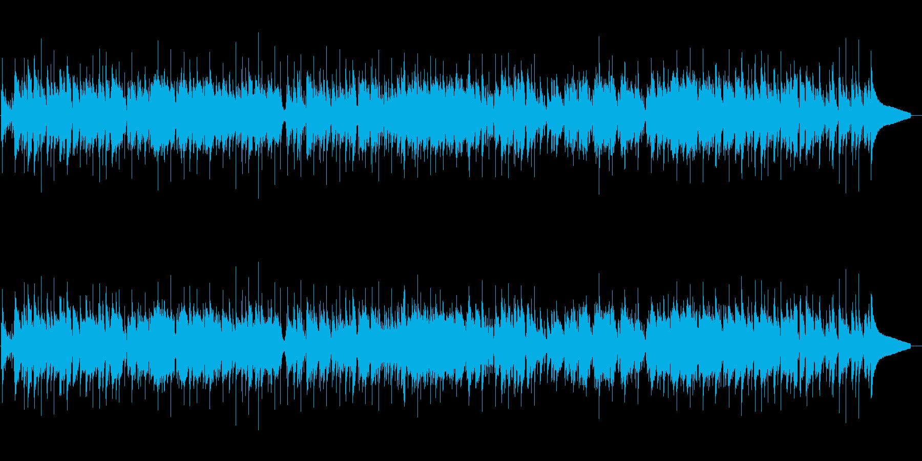 けだるい雰囲気のボサノバ風ポップスの再生済みの波形