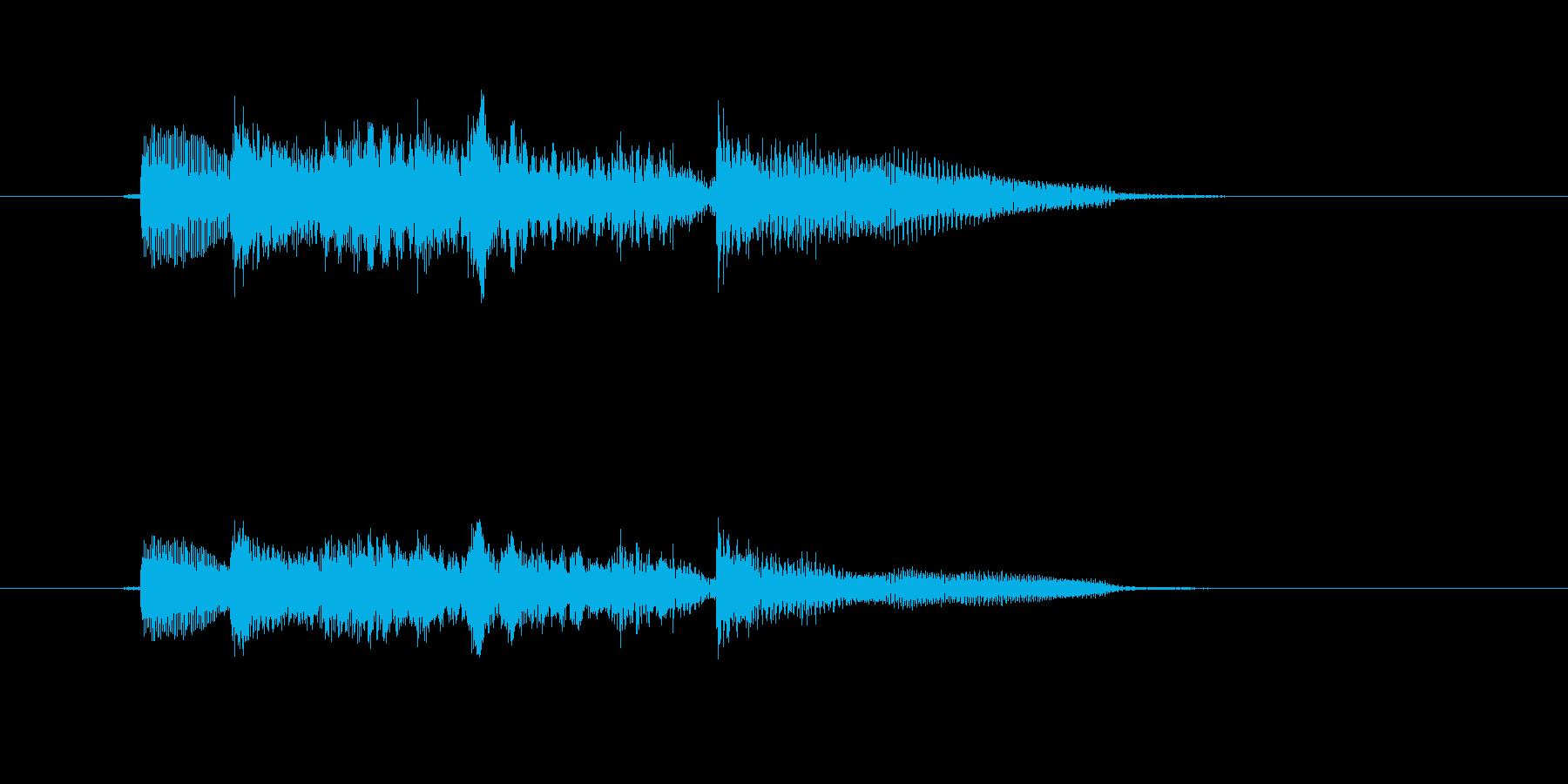 ギターの軽快なメロディーの再生済みの波形