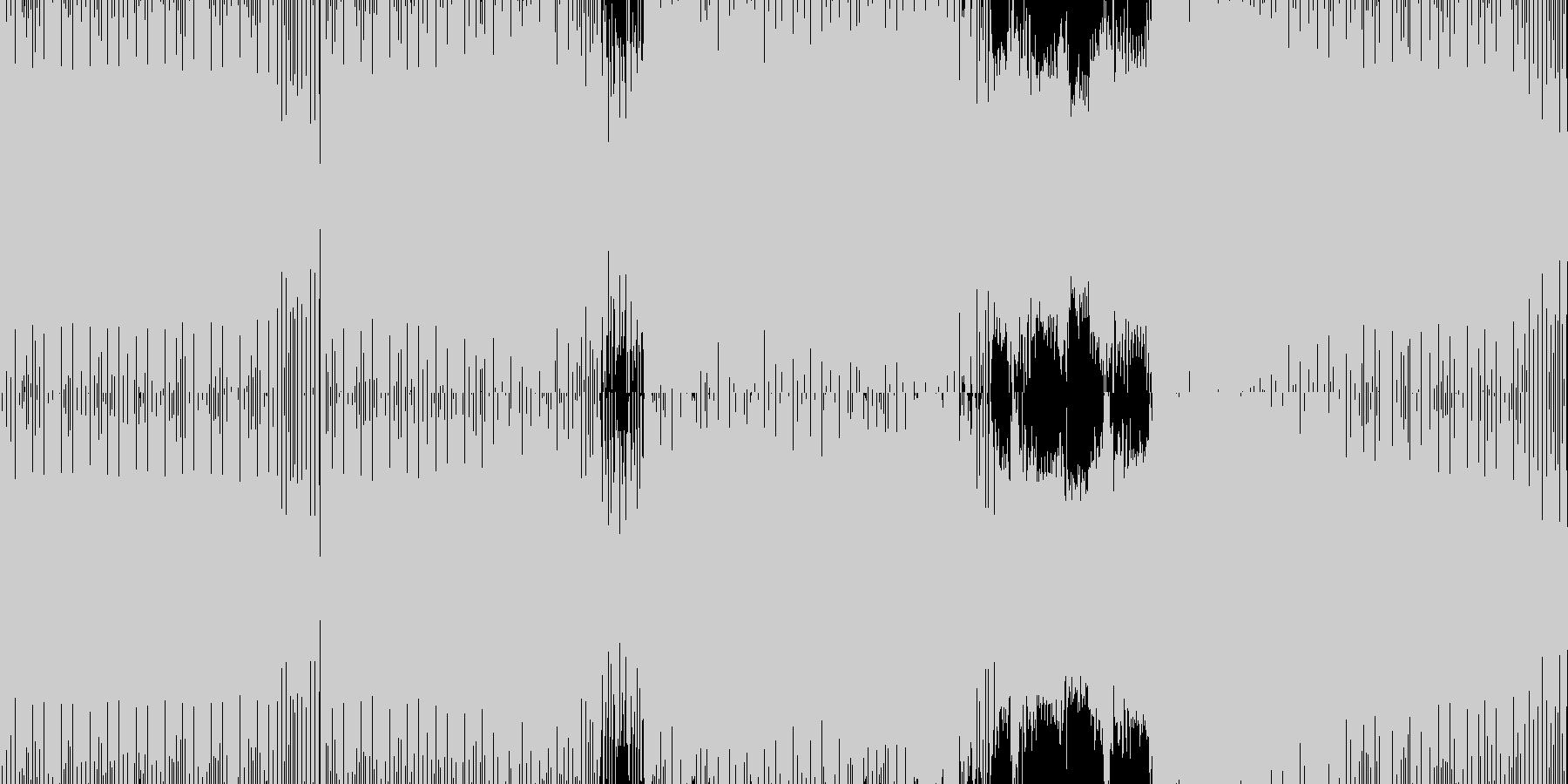 シンセが乗ってくるミニマルマウスの未再生の波形