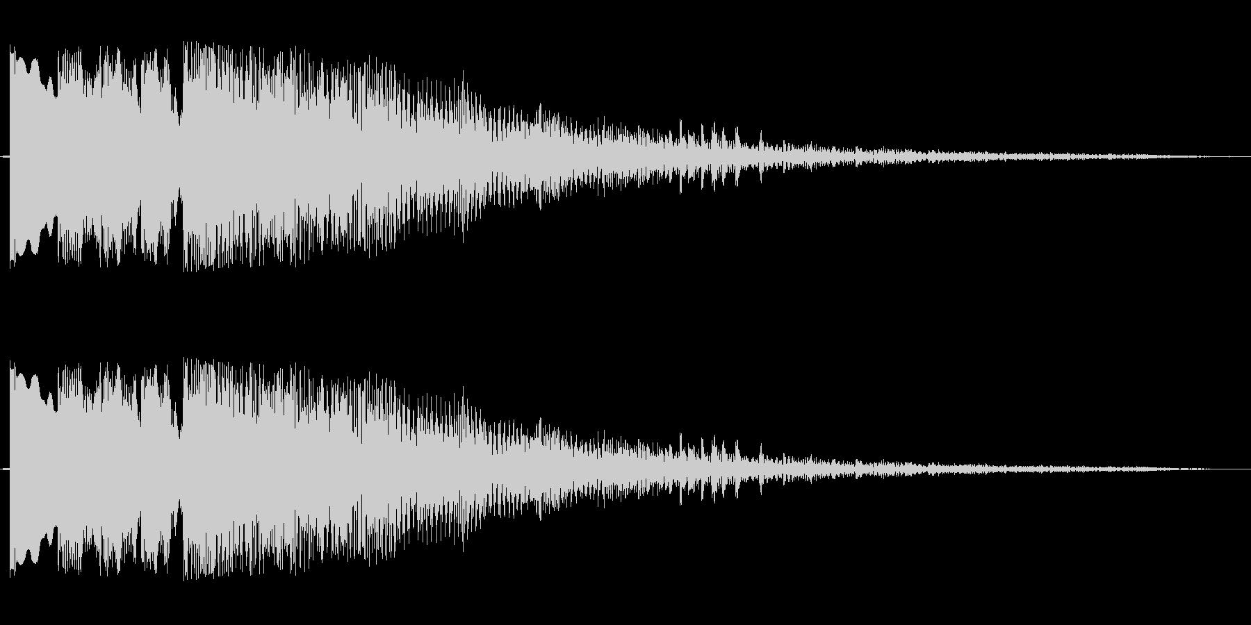 ポンポンパパポーン(穏やかなOP音)の未再生の波形