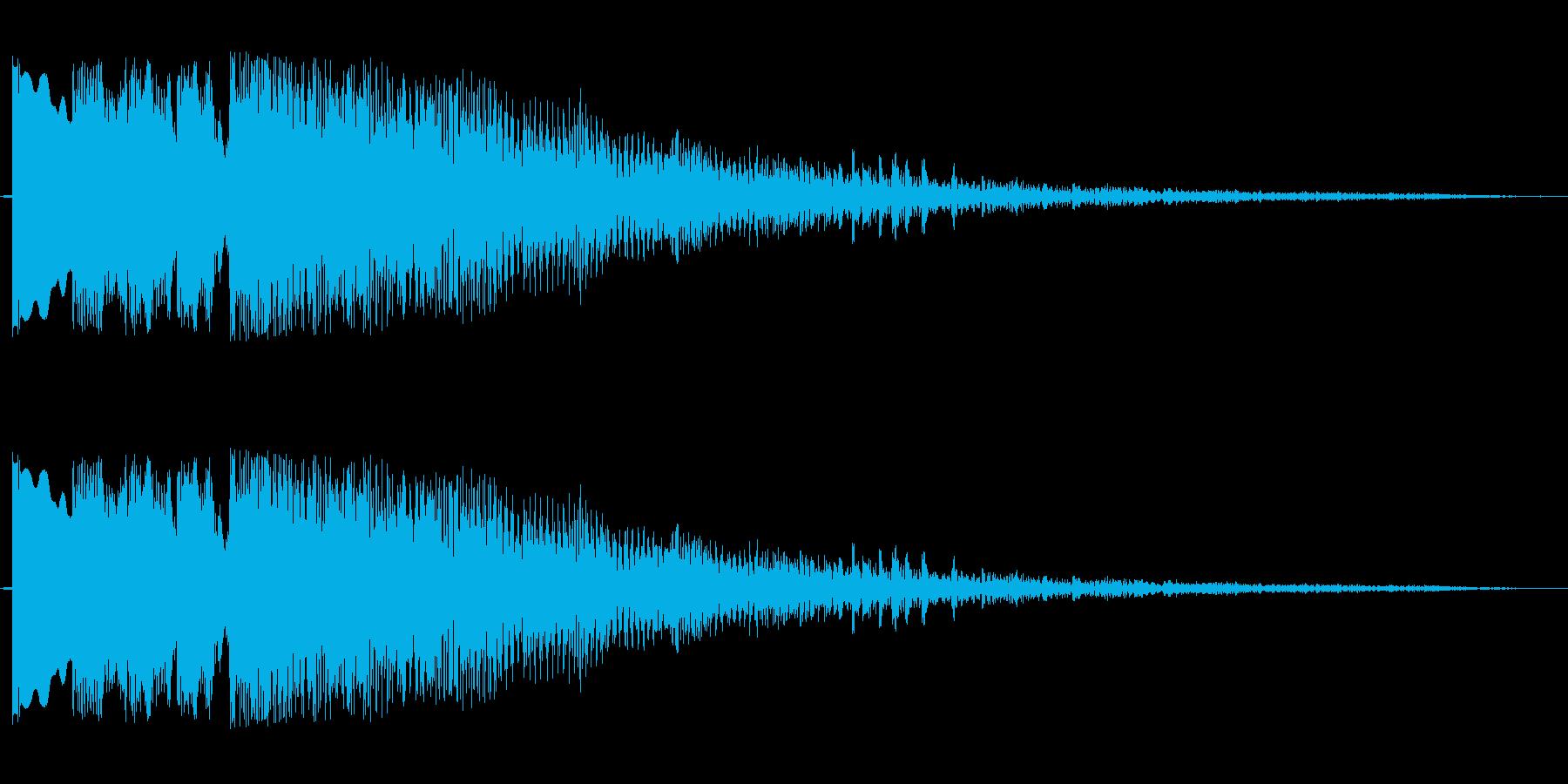 ポンポンパパポーン(穏やかなOP音)の再生済みの波形