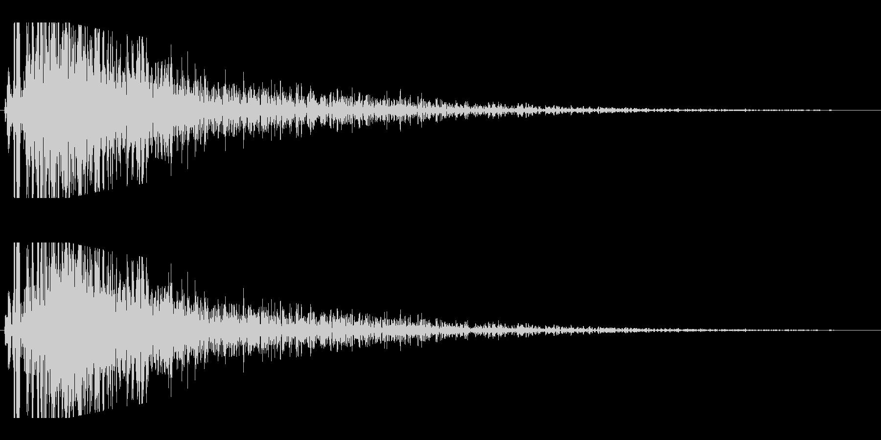 レーザービーム発射(ズギューン)の未再生の波形