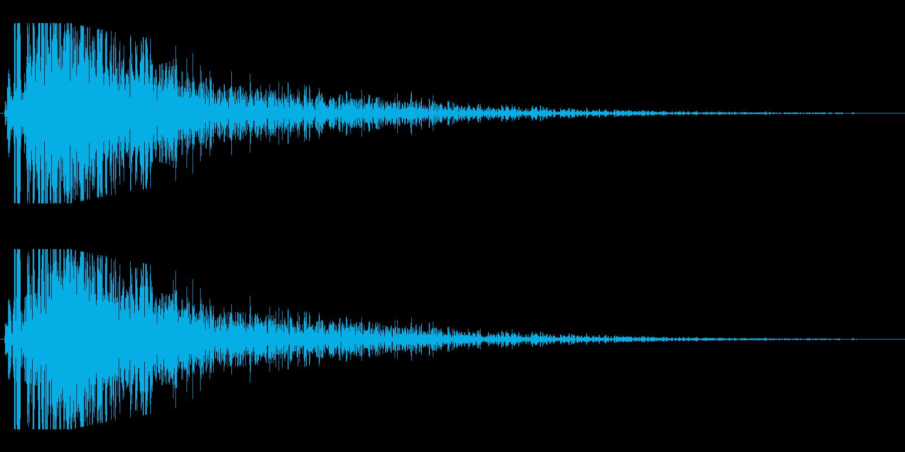 レーザービーム発射(ズギューン)の再生済みの波形