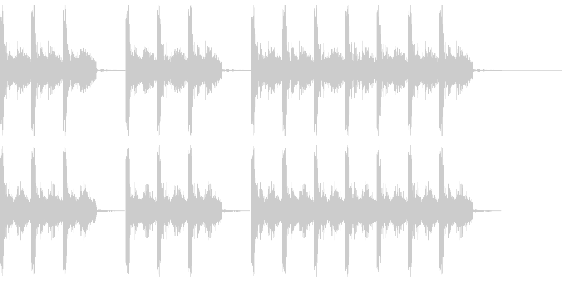 三三七拍子 その12の未再生の波形