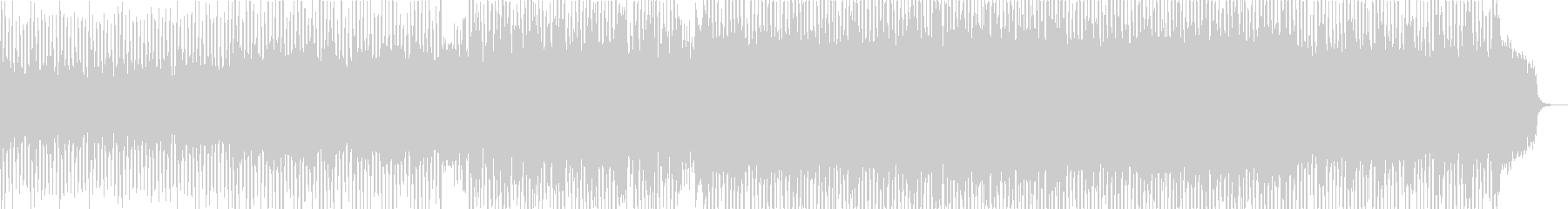 躍動感のある弾むようなシンセの曲の未再生の波形