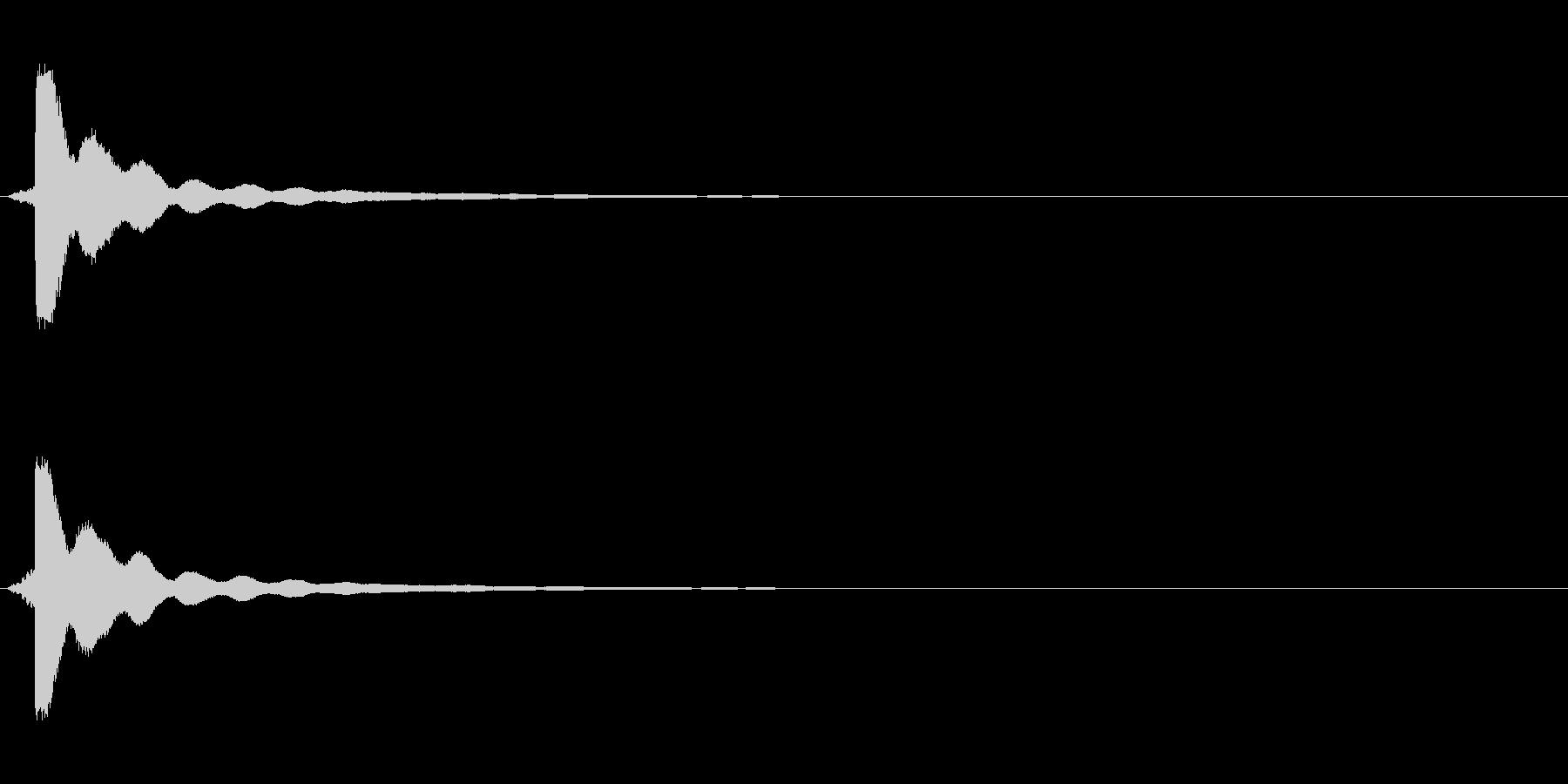 カーソルボタン音(スクロール「キン」)の未再生の波形