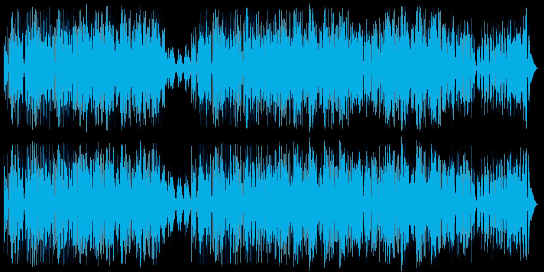 ジャズ調のバラード曲の再生済みの波形