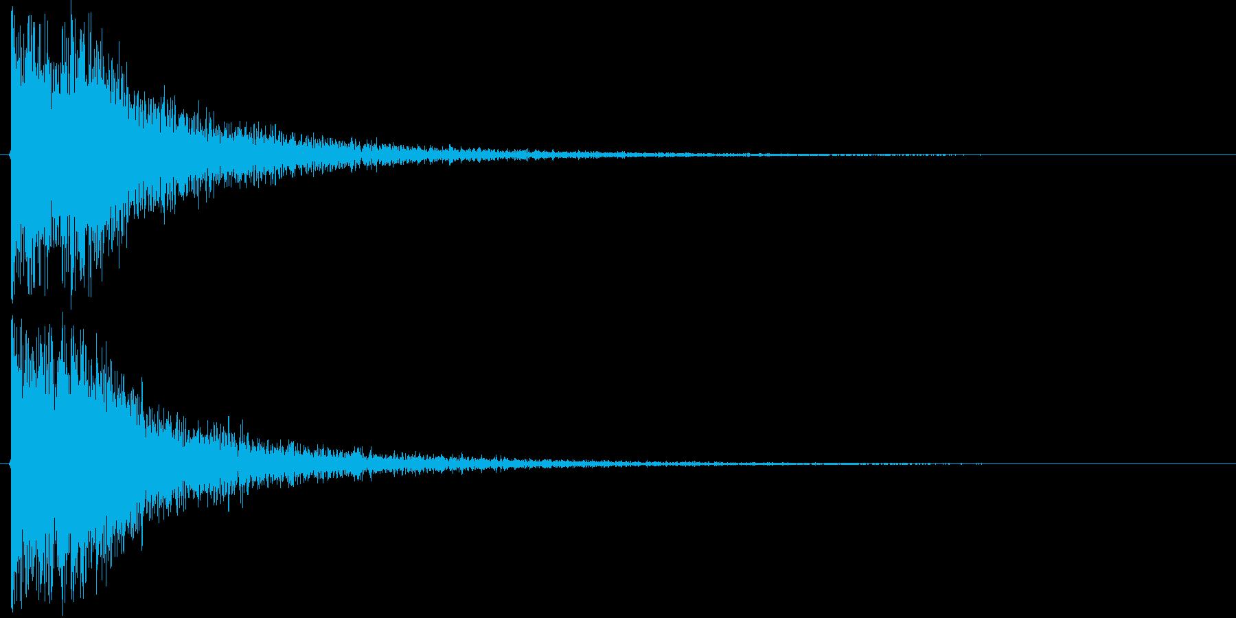 ドドン+カカッ(和風、決定音)の再生済みの波形