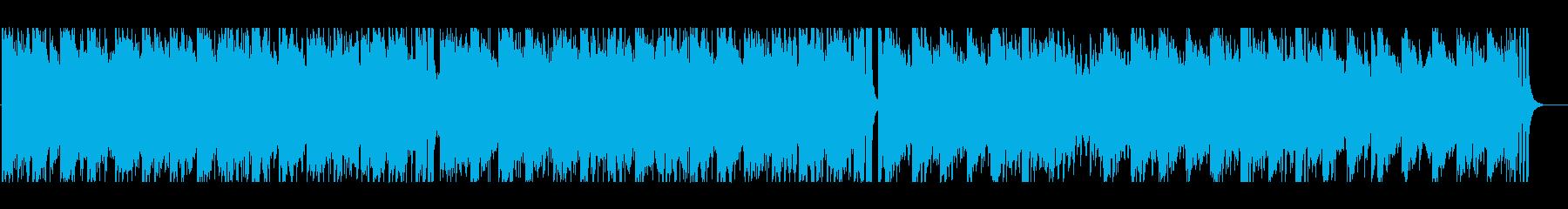 少し切ない大人のイメージのBGMの再生済みの波形