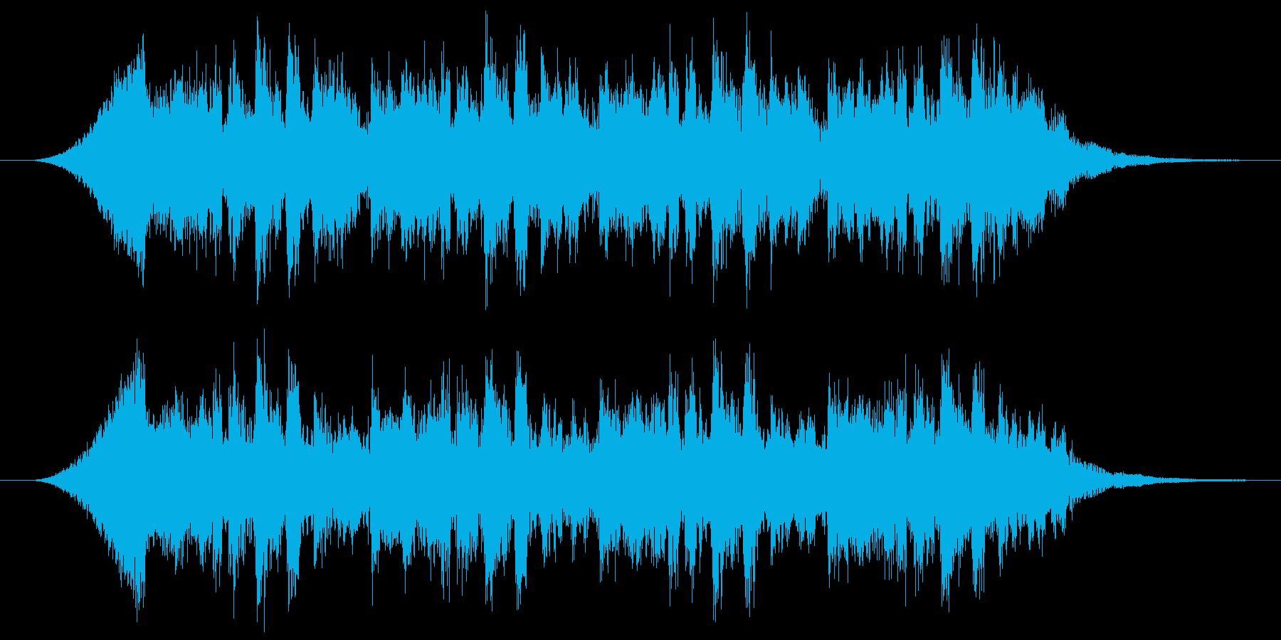 悪の組織の化学施設のBGM的なジングルの再生済みの波形
