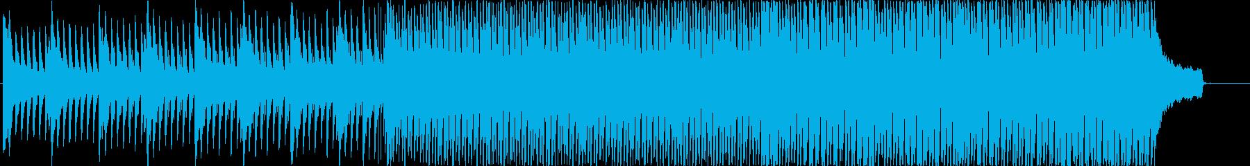 ポジティブな雰囲気の企業VP向けBGMの再生済みの波形