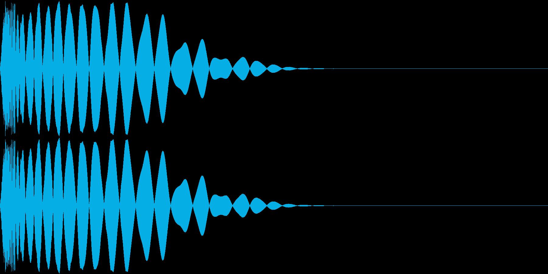 DTM Kick 76 オリジナル音源の再生済みの波形