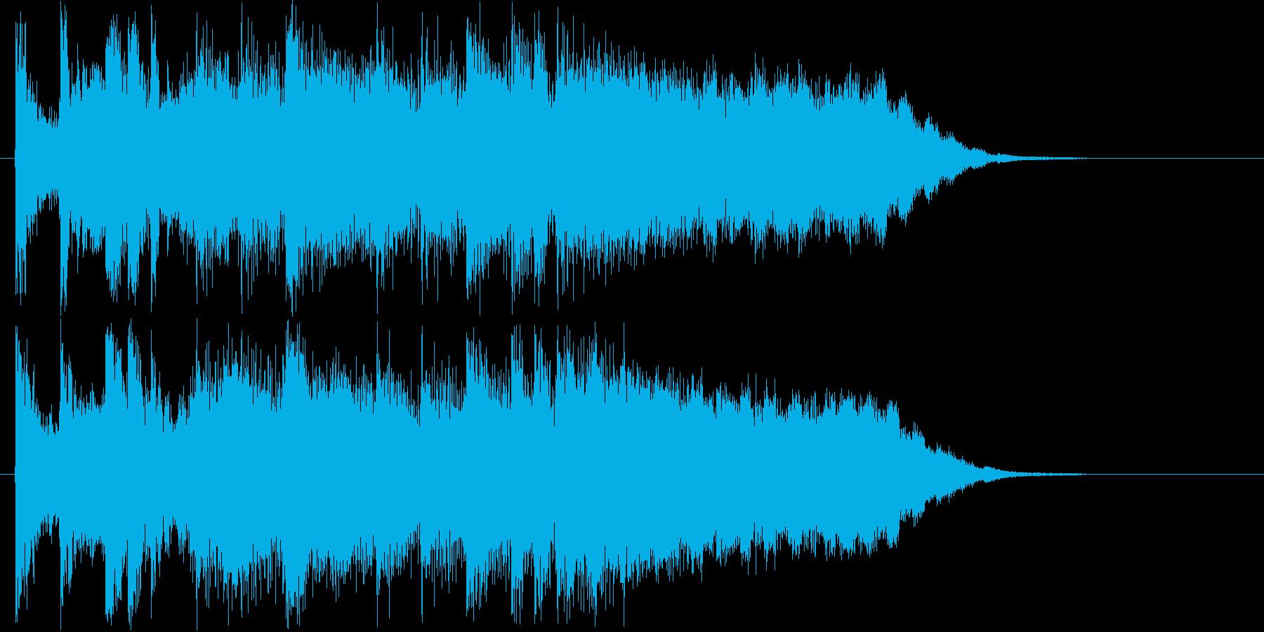 突発的なハードロックジングルの再生済みの波形