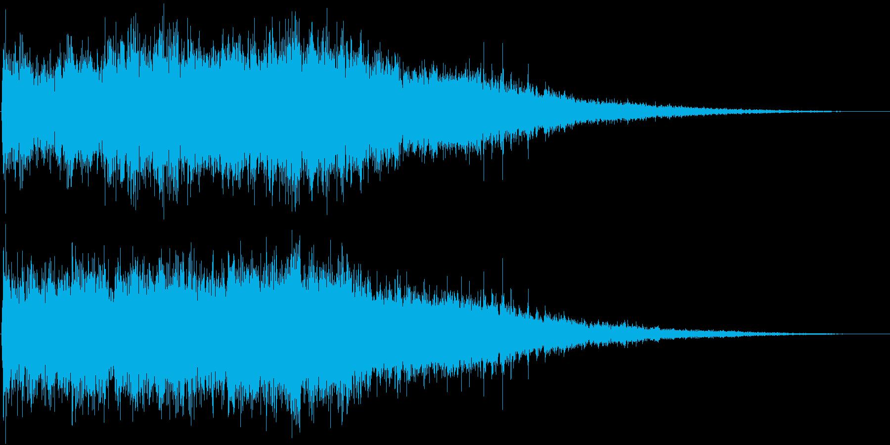 登場シーンなどに最適なエスニックジングルの再生済みの波形