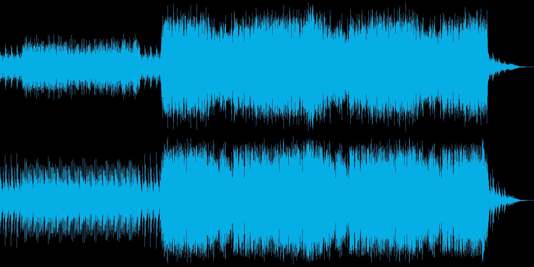 神秘的で不思議な雰囲気のBGMの再生済みの波形