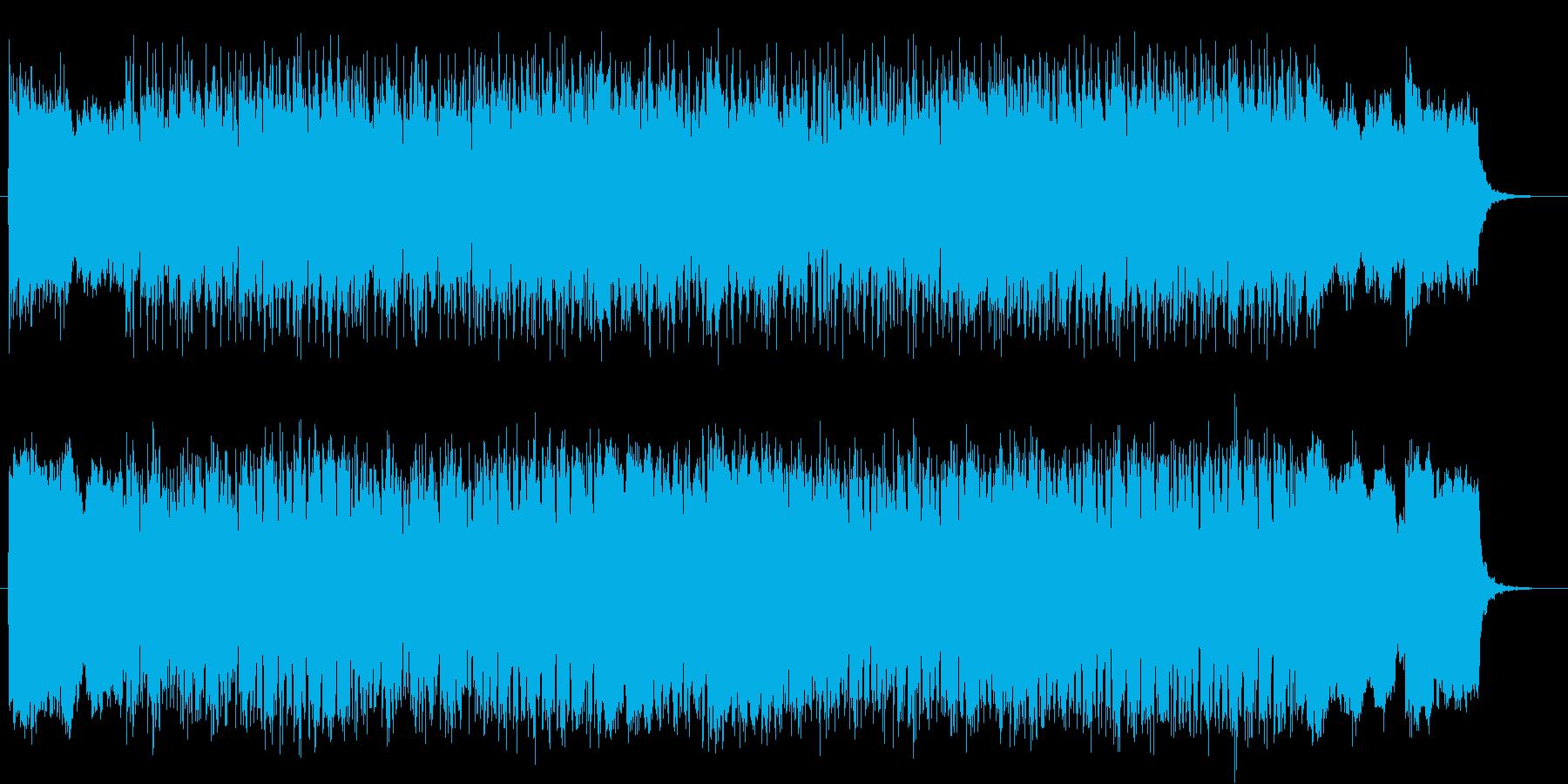 疾走感と宇宙感のシンセサイザーテクノの再生済みの波形
