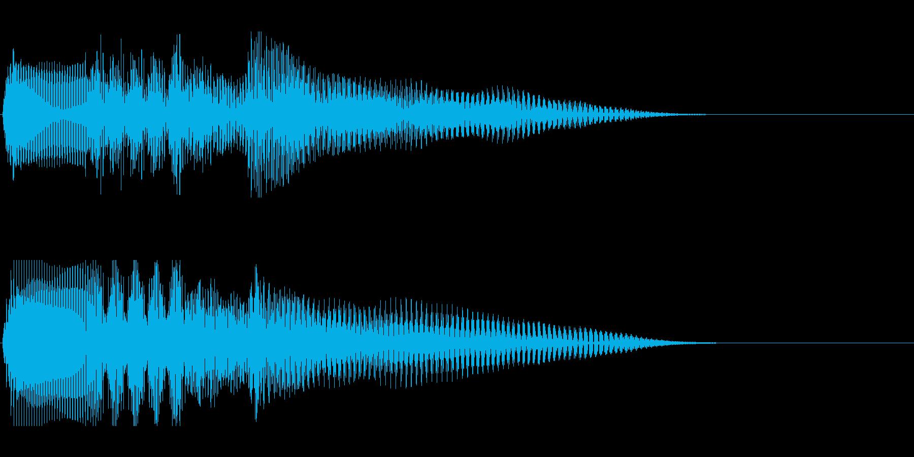 温もりのあるストリングスによる場面転換音の再生済みの波形