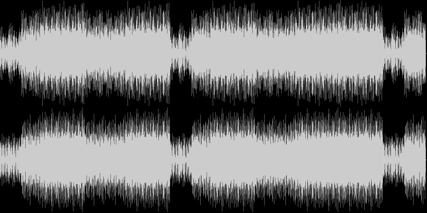 ワイルドなアップデンポ曲の未再生の波形