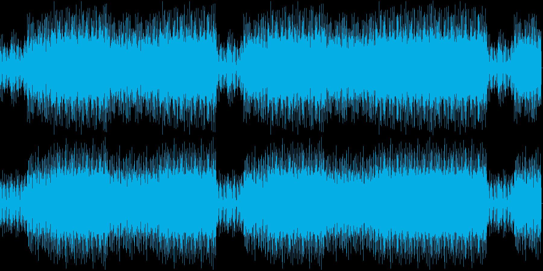 ワイルドなアップデンポ曲の再生済みの波形