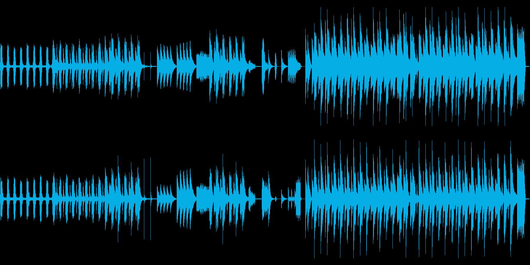 ピタゴラスイッチ風のコミカルなBGMの再生済みの波形
