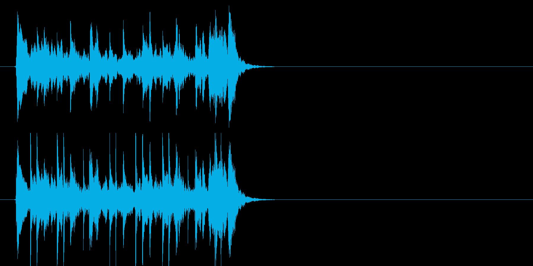 ポップジングルの再生済みの波形