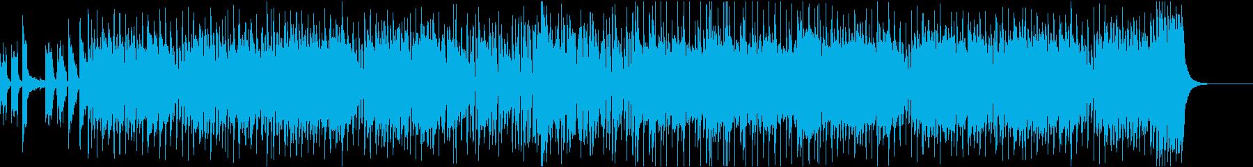 哀愁漂うジャズ調の曲の再生済みの波形