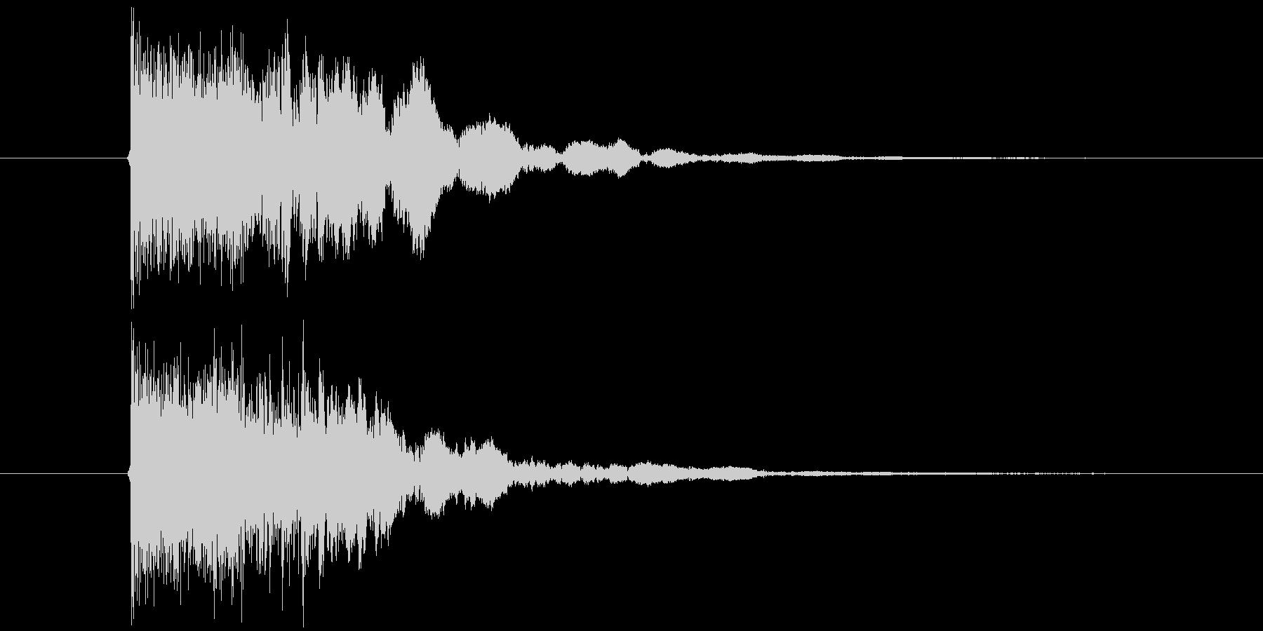 シャキーン(斬撃音、決定音)の未再生の波形