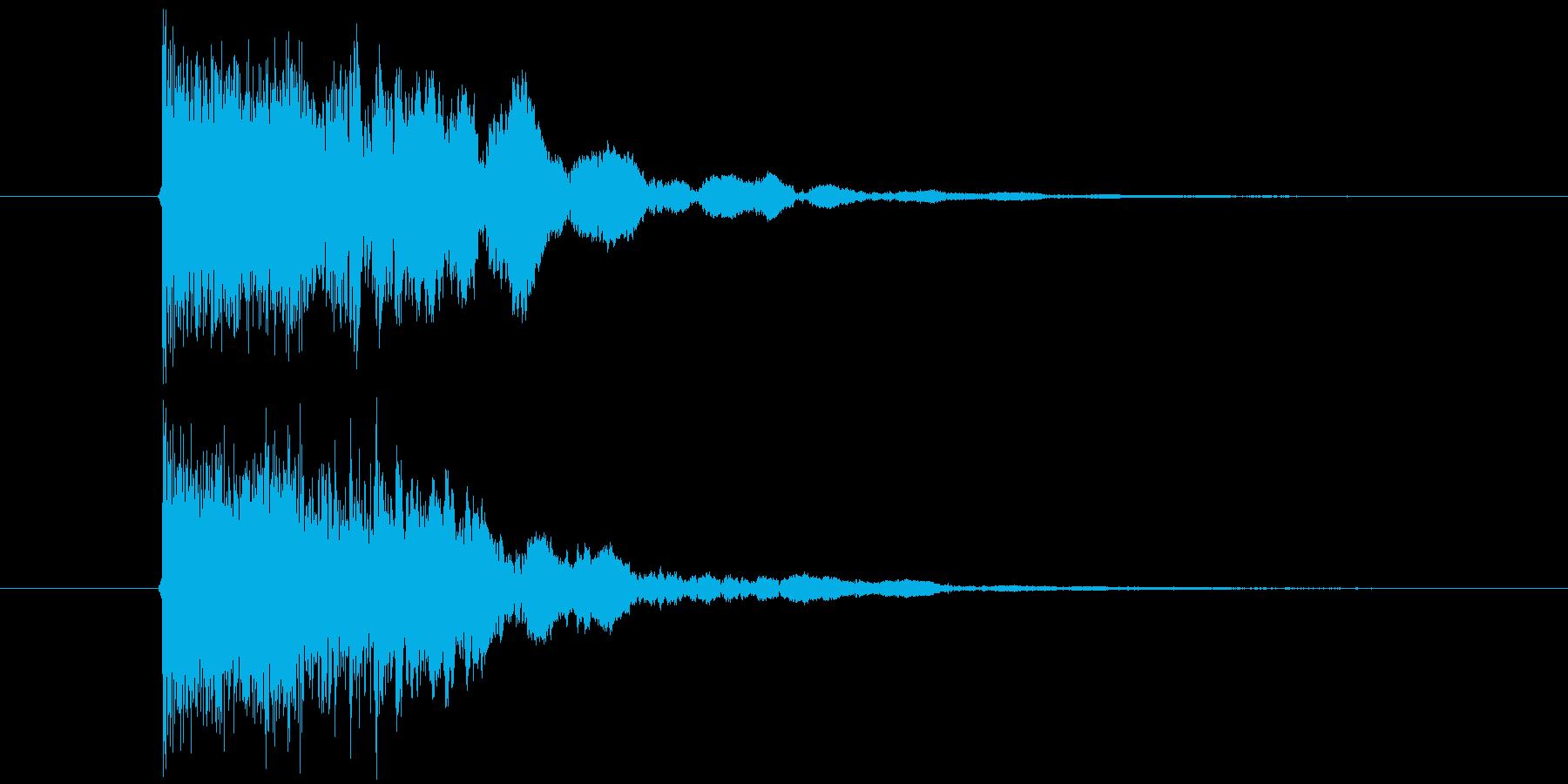 シャキーン(斬撃音、決定音)の再生済みの波形