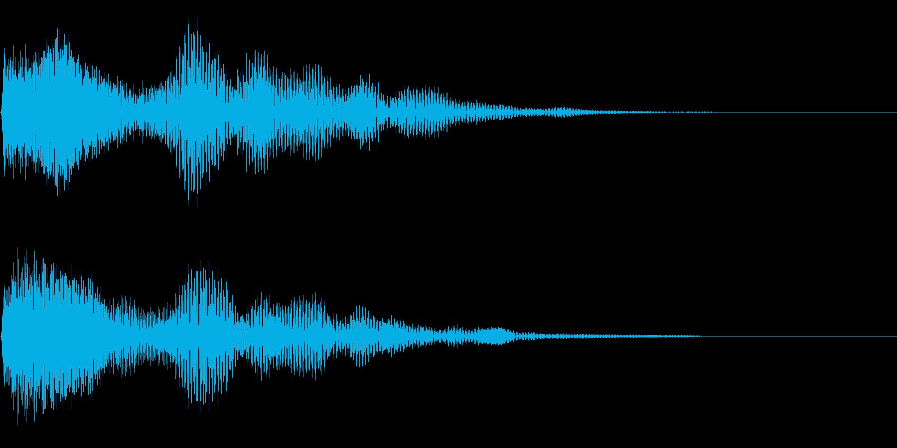 ボタン押下や決定音_ピロンッ!の再生済みの波形