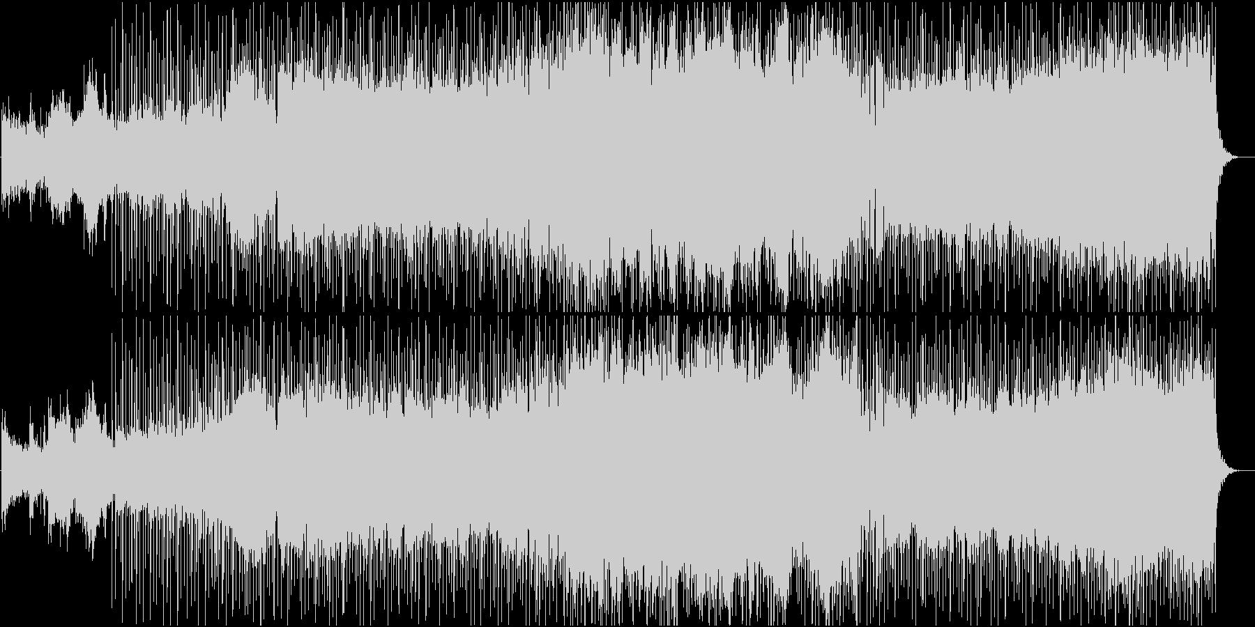 薄暗い場所をイメージしたBGMの未再生の波形