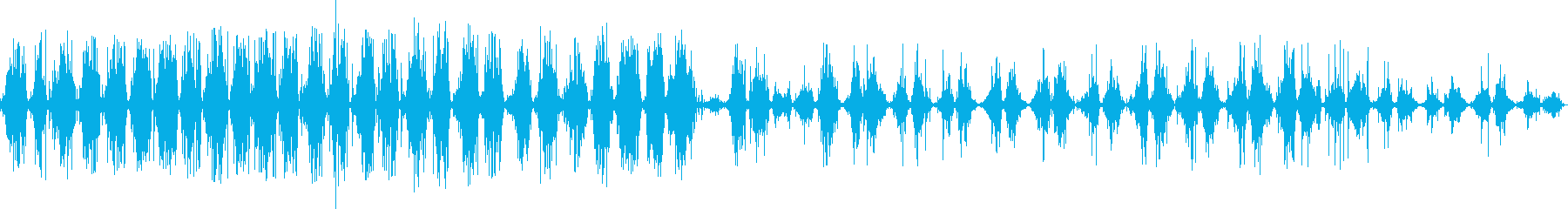 歯磨き(シャカシャカ)の再生済みの波形