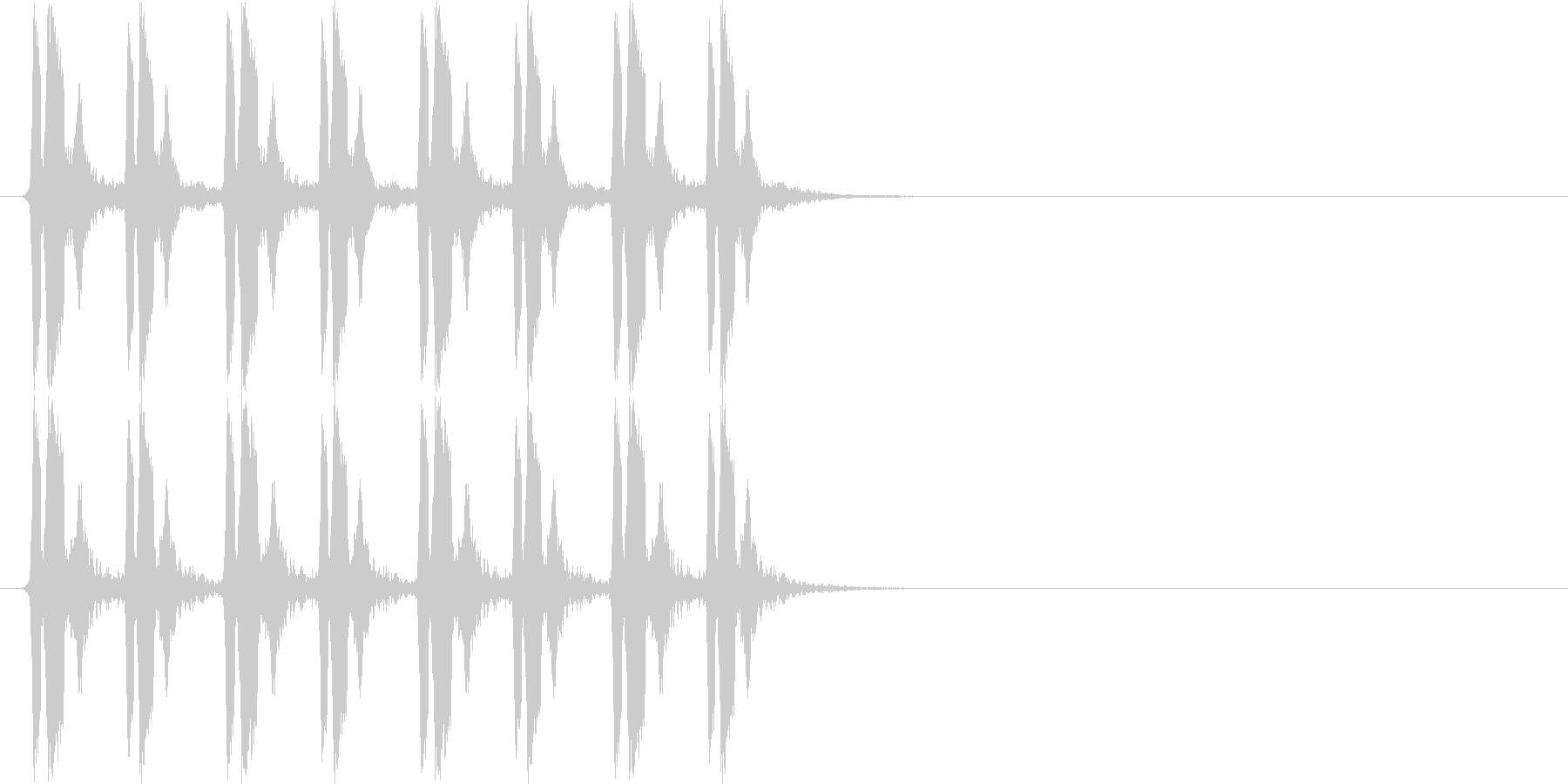 ぴよぴよぴよぴよ(混乱状態、遅め)の未再生の波形