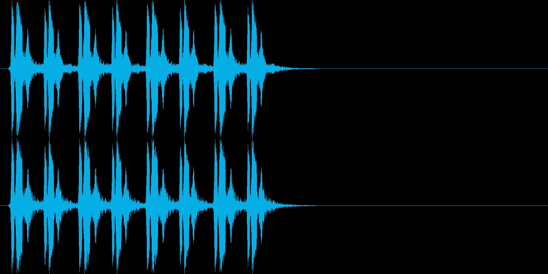 ぴよぴよぴよぴよ(混乱状態、遅め)の再生済みの波形