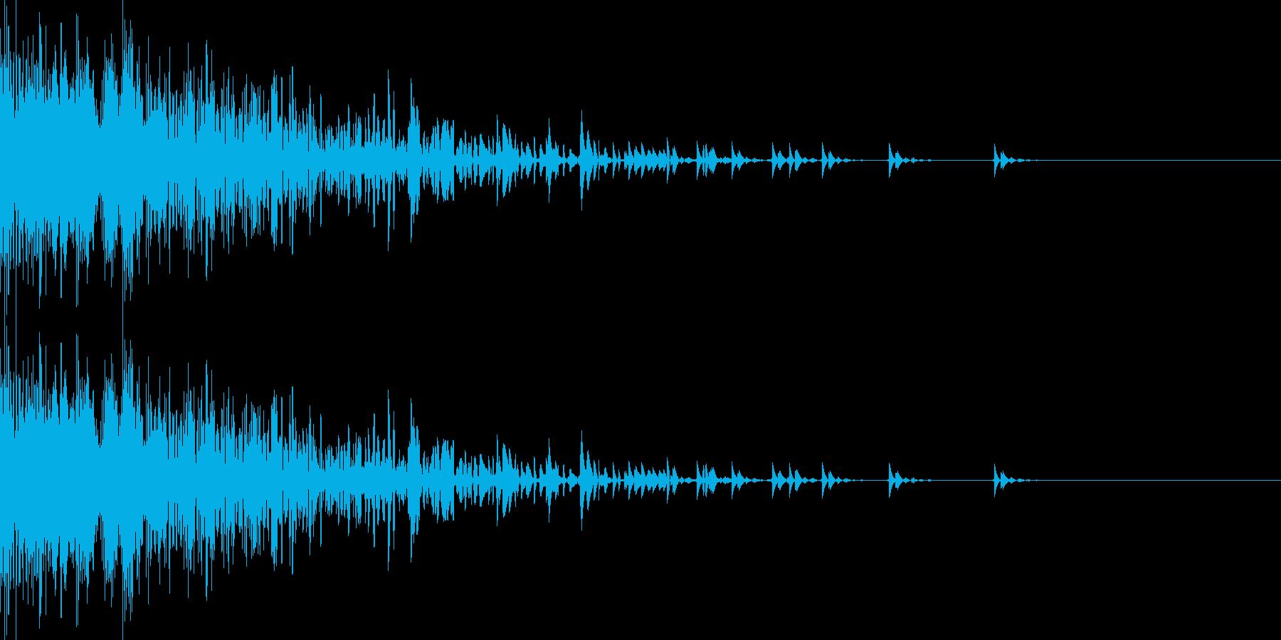 レーザー銃風な音です。の再生済みの波形