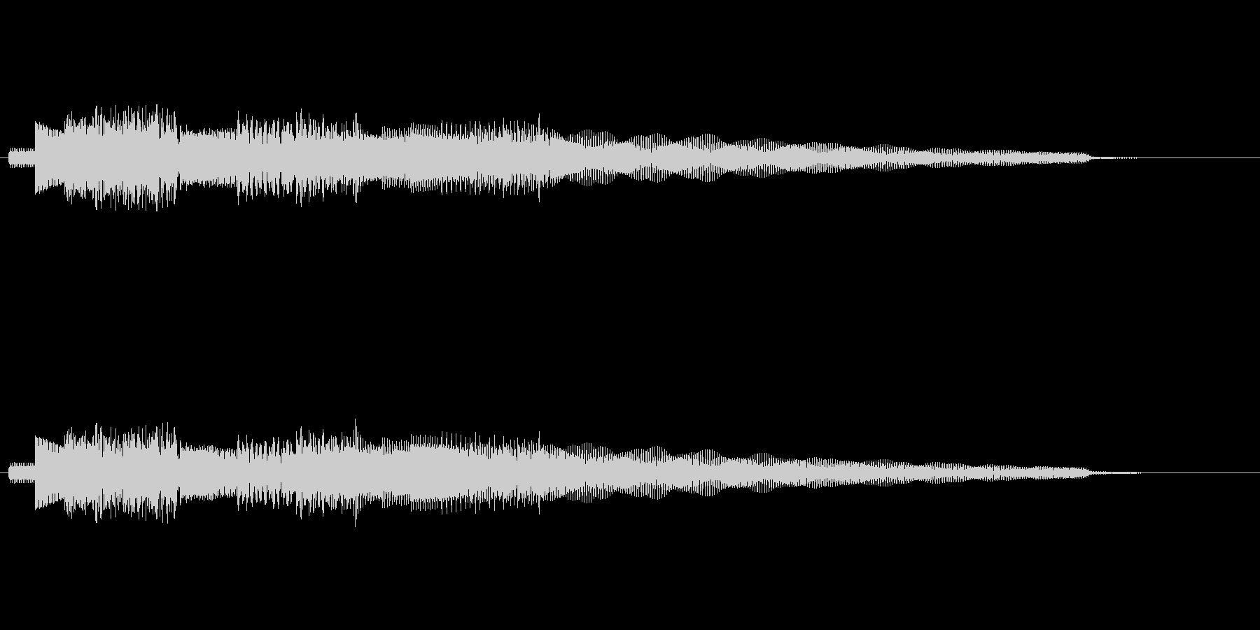 流れるようなエレピのジングルの未再生の波形