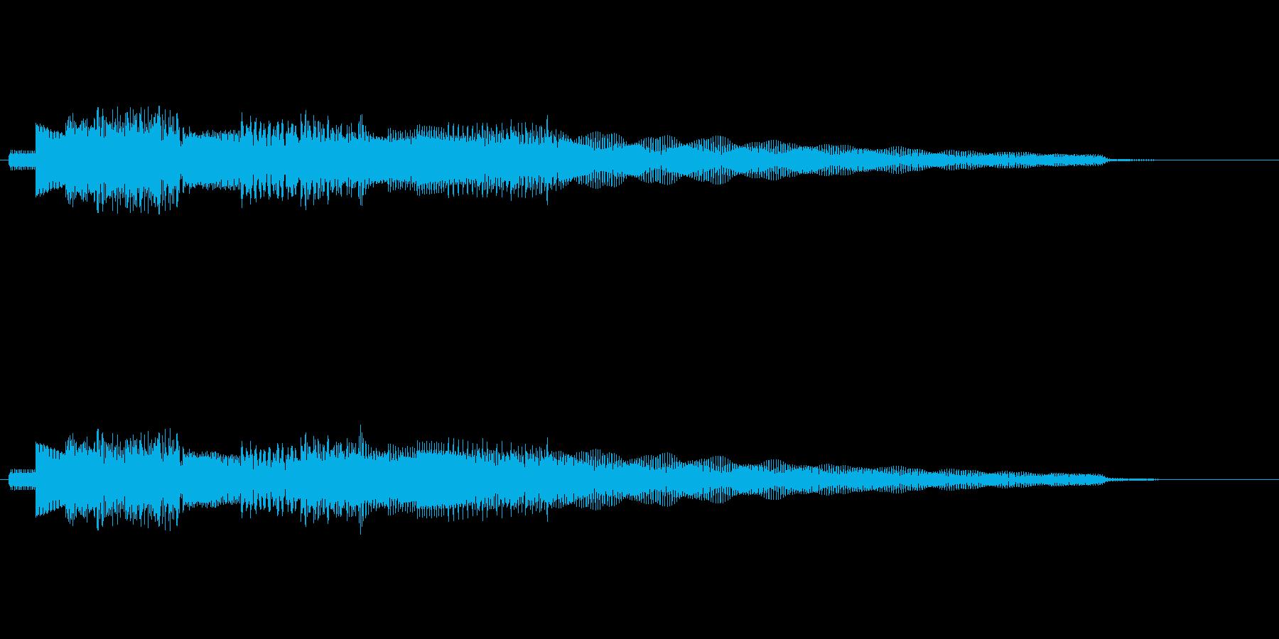 流れるようなエレピのジングルの再生済みの波形