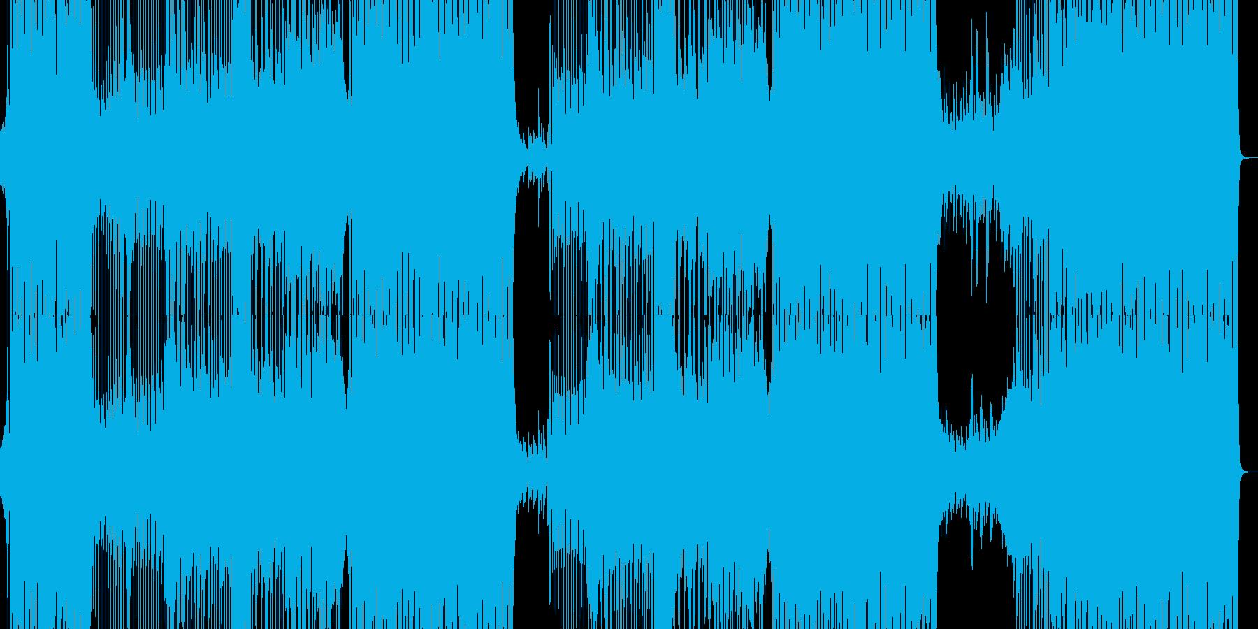 爽やかでPOPな明るい曲の再生済みの波形