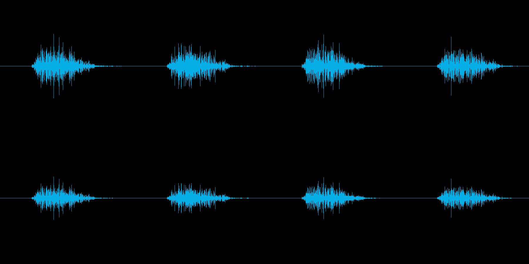 ざっざっざっざっ(移動音)の再生済みの波形
