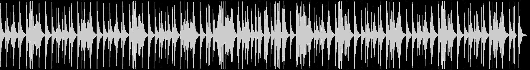 (ドラム、ベース抜き)ピアノ旋律の未再生の波形