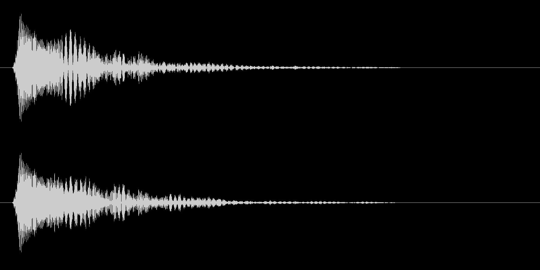 クリック音(かわいい)の未再生の波形