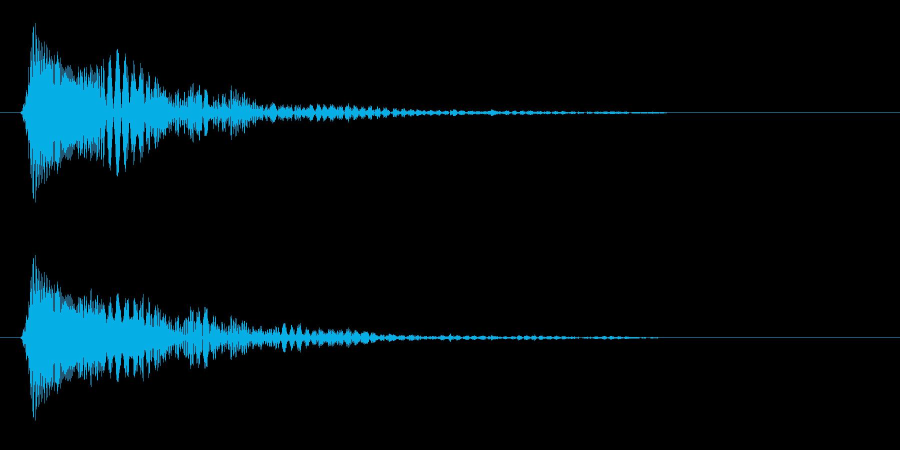 クリック音(かわいい)の再生済みの波形
