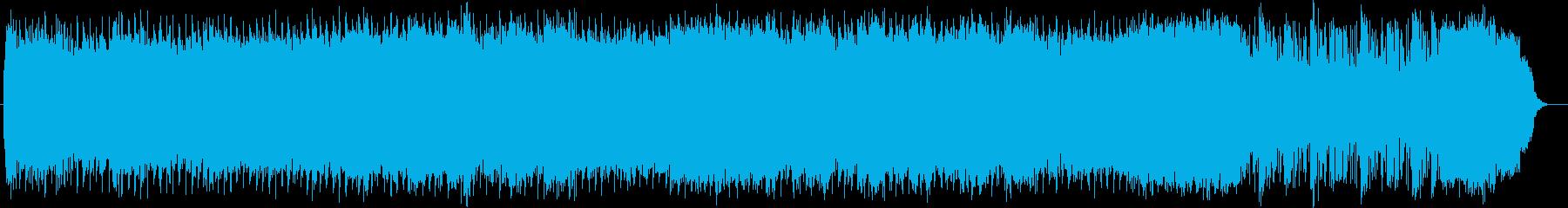 激しく疾走感のあるリズムのハードロックの再生済みの波形