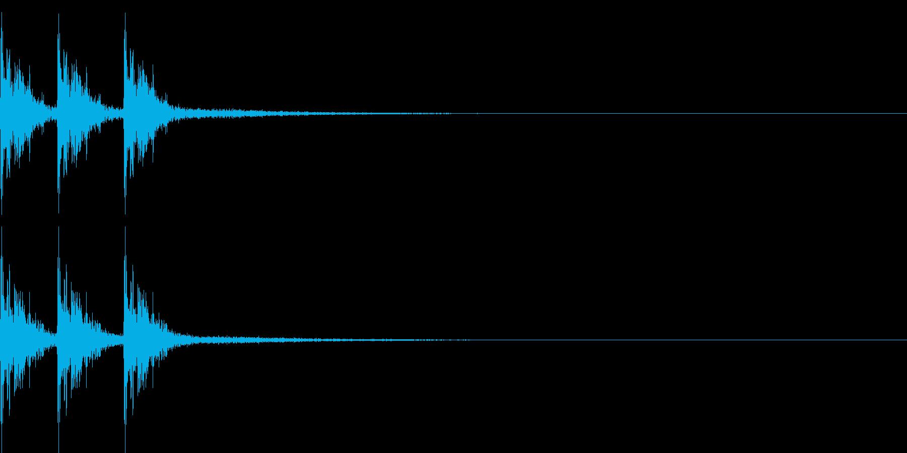 【和風】タタタンの再生済みの波形
