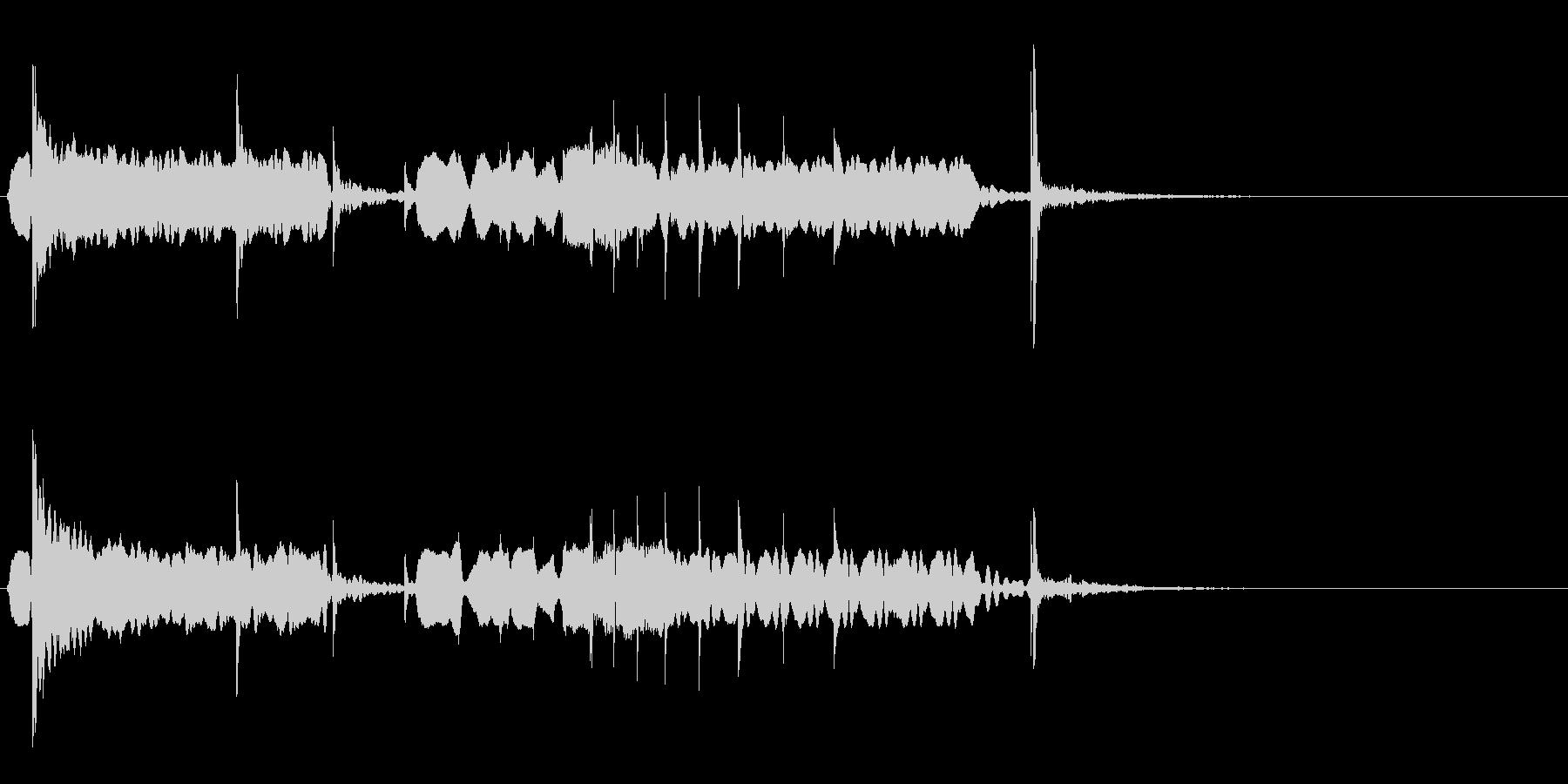 尺八を使った和のジングルの未再生の波形