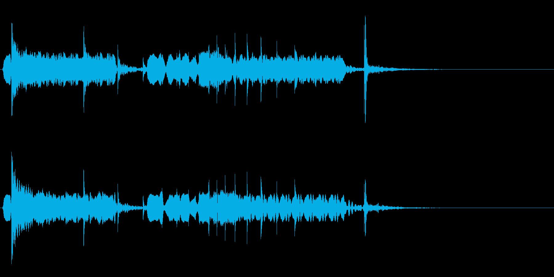 尺八を使った和のジングルの再生済みの波形