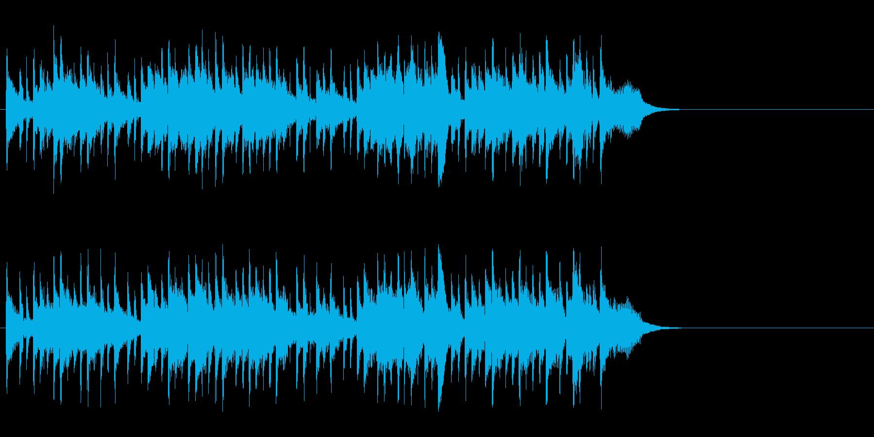 のんびりと爽やかなポップ(Aメロ)の再生済みの波形
